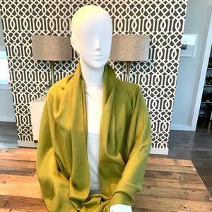 Nordstrom Cashmere Fringe Wrap in Green